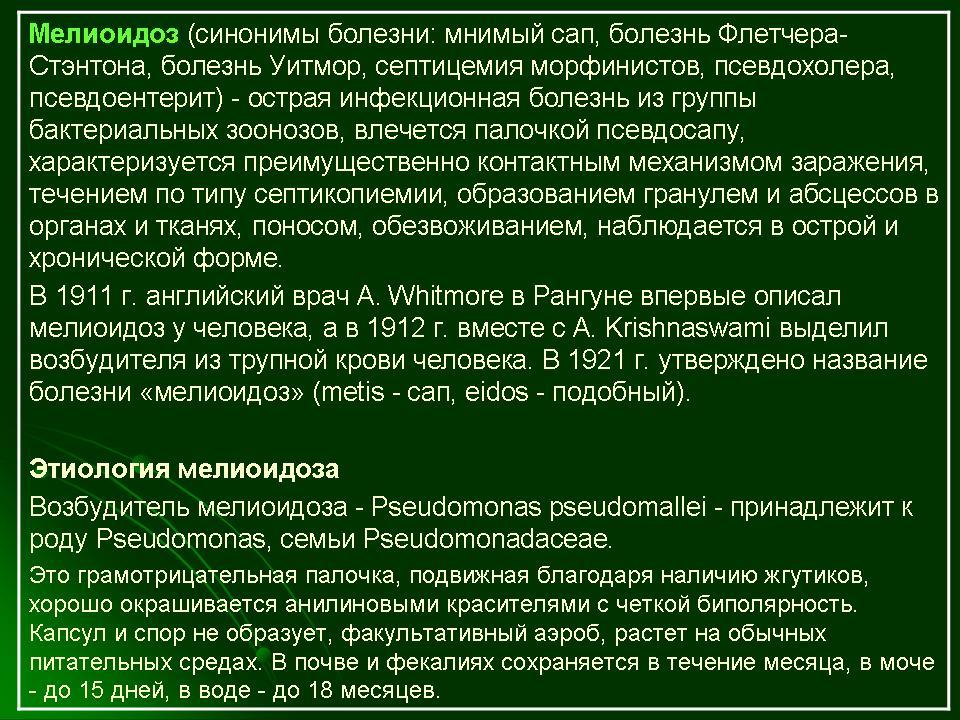 Мелиоидоз